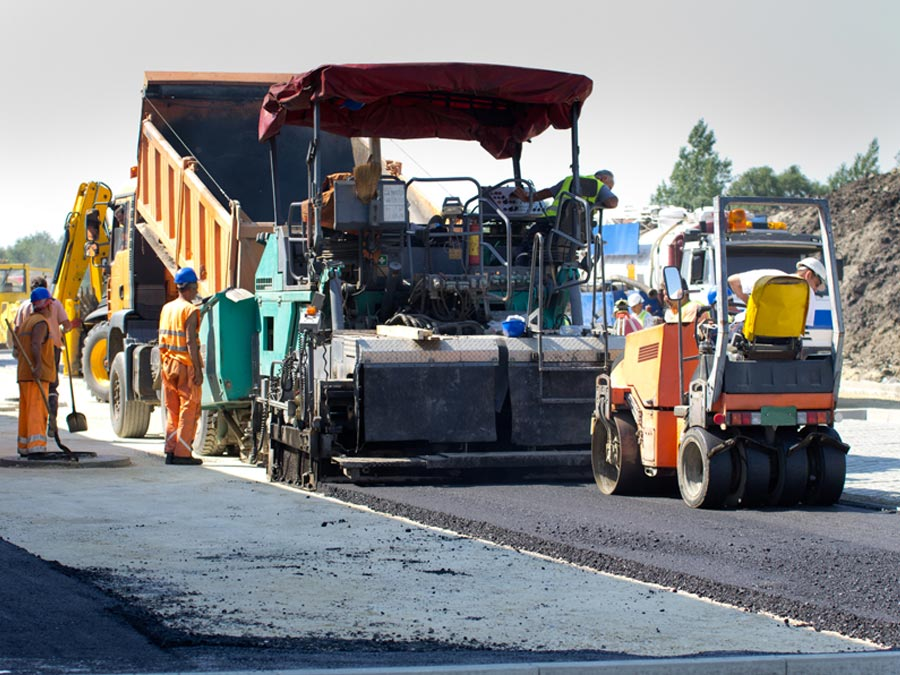 asfaltatrici controllo gps