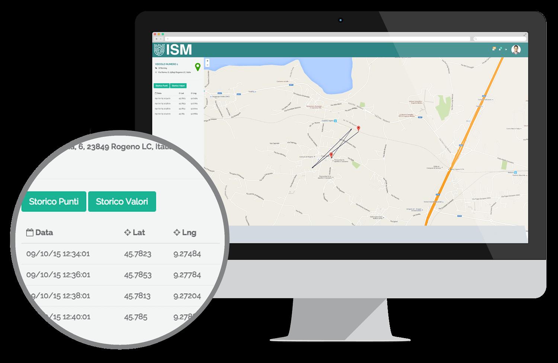 Screenshot portale clienti ISM