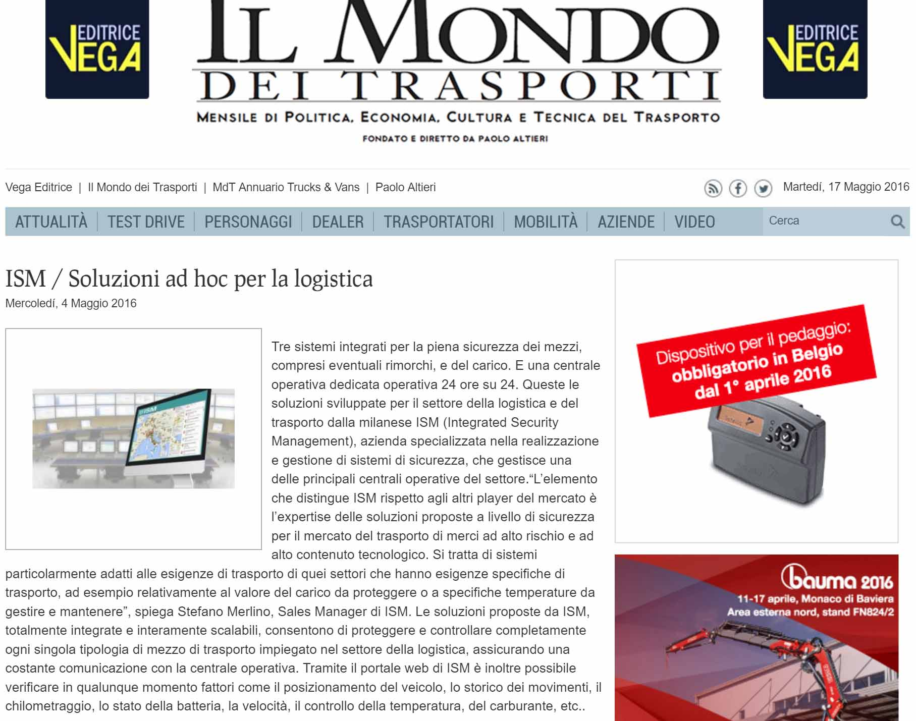 Il mondo dei trasporti ism soluzioni ad hoc per la logistica - Italian ad hoc interviste ...