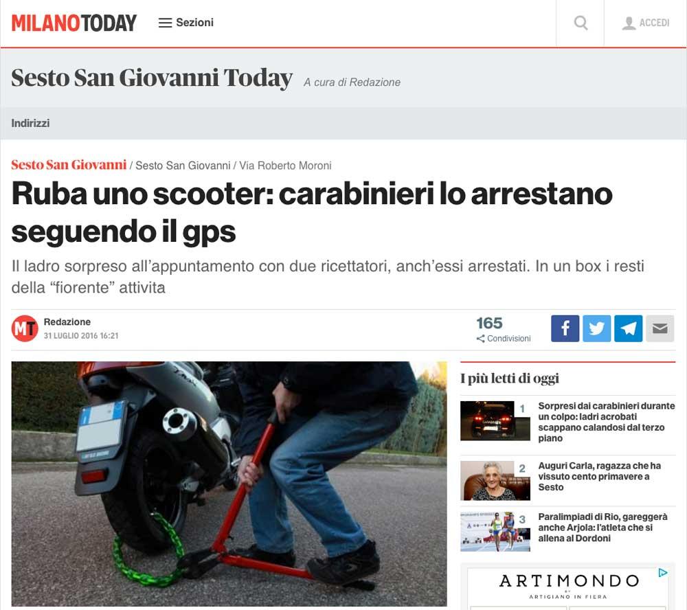 furti di scooter antifurti gps