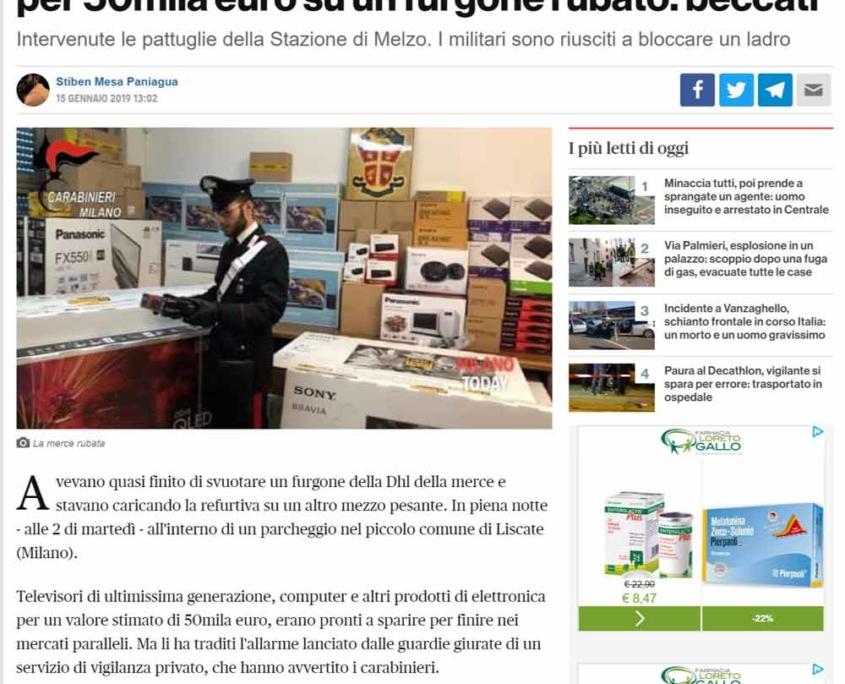 articolo milano today ism